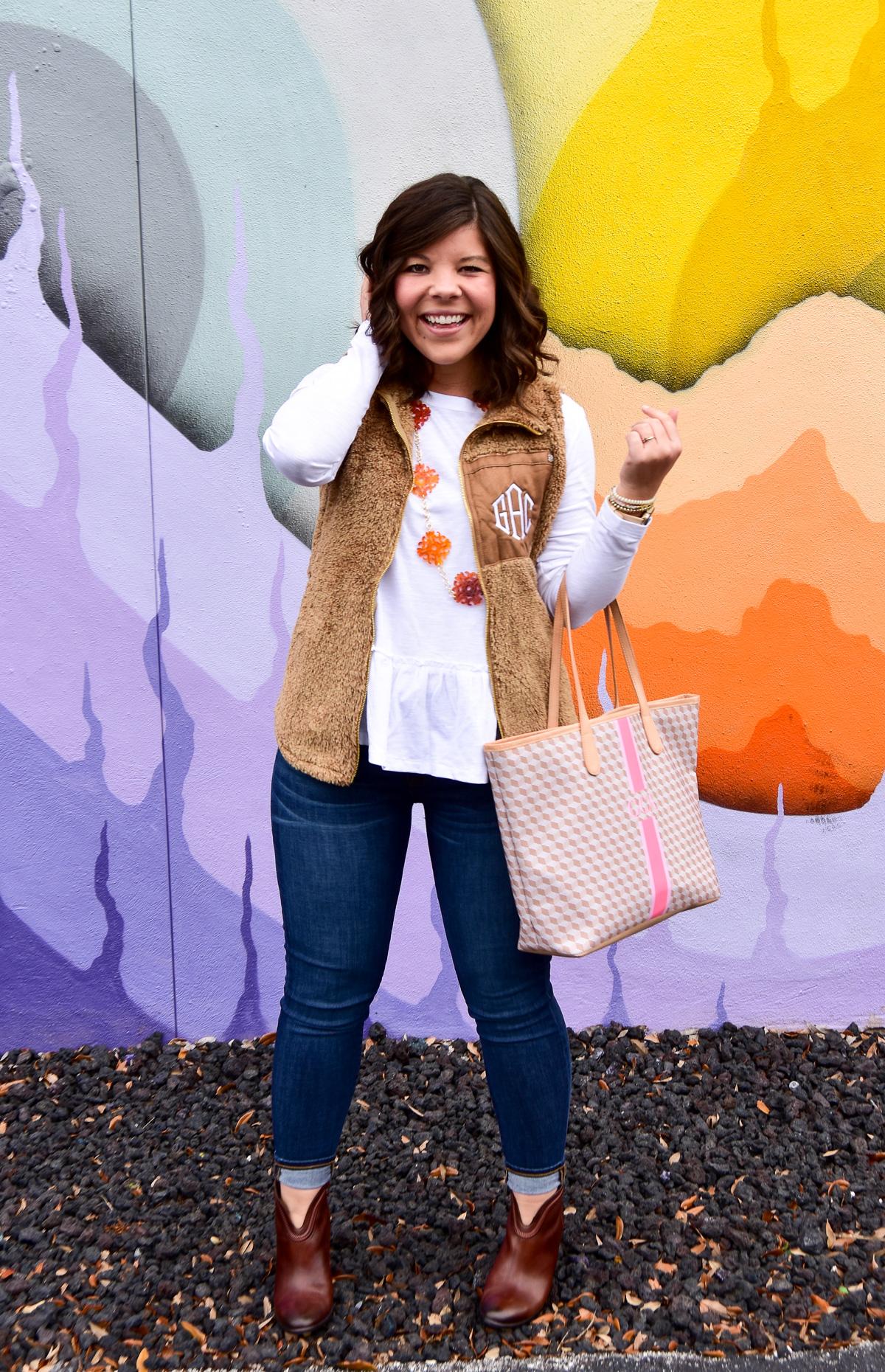 Winter-Style: Monogrammed Sherpa Vest
