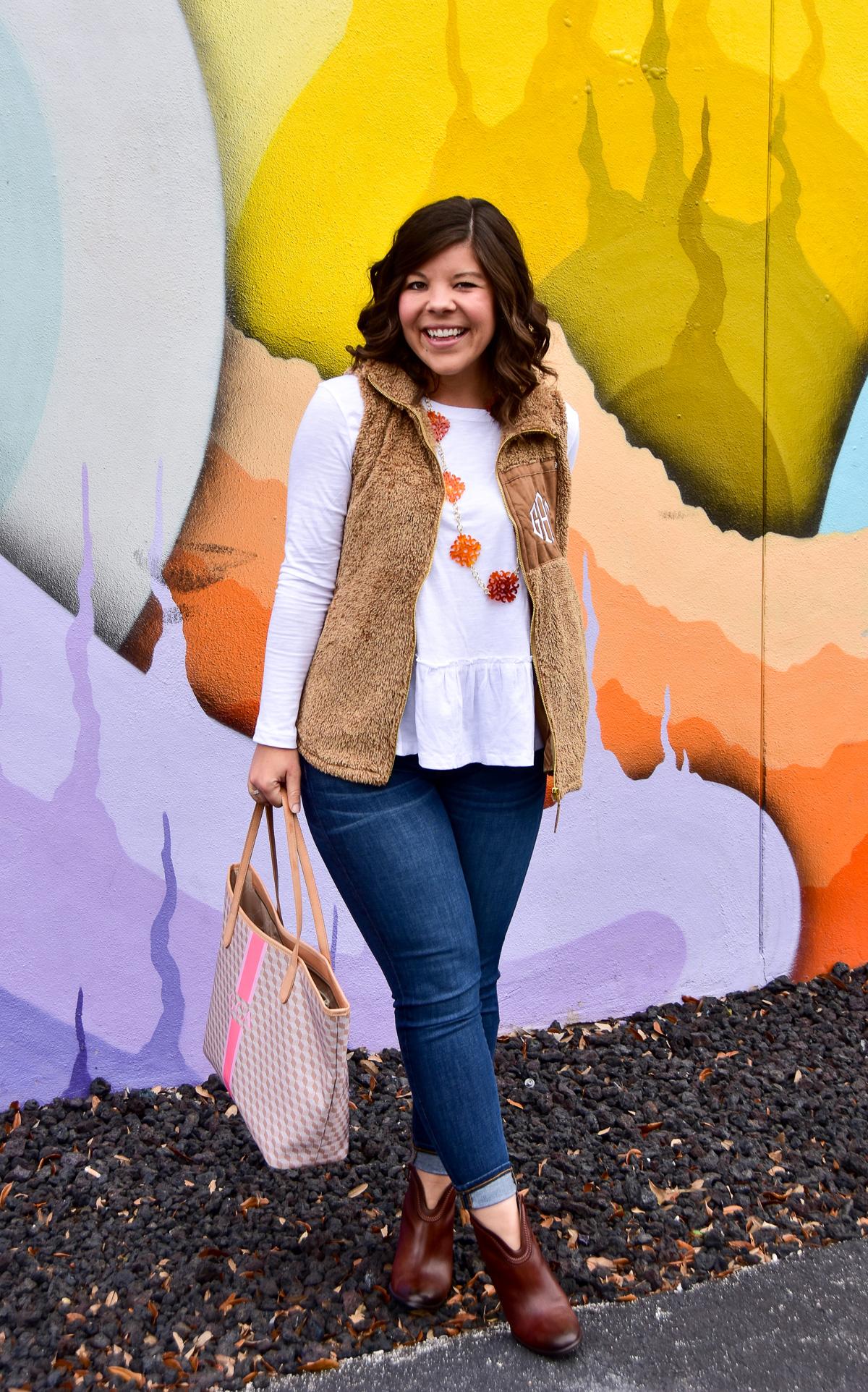 Marley Lilly Monogrammed Sherpa Vest