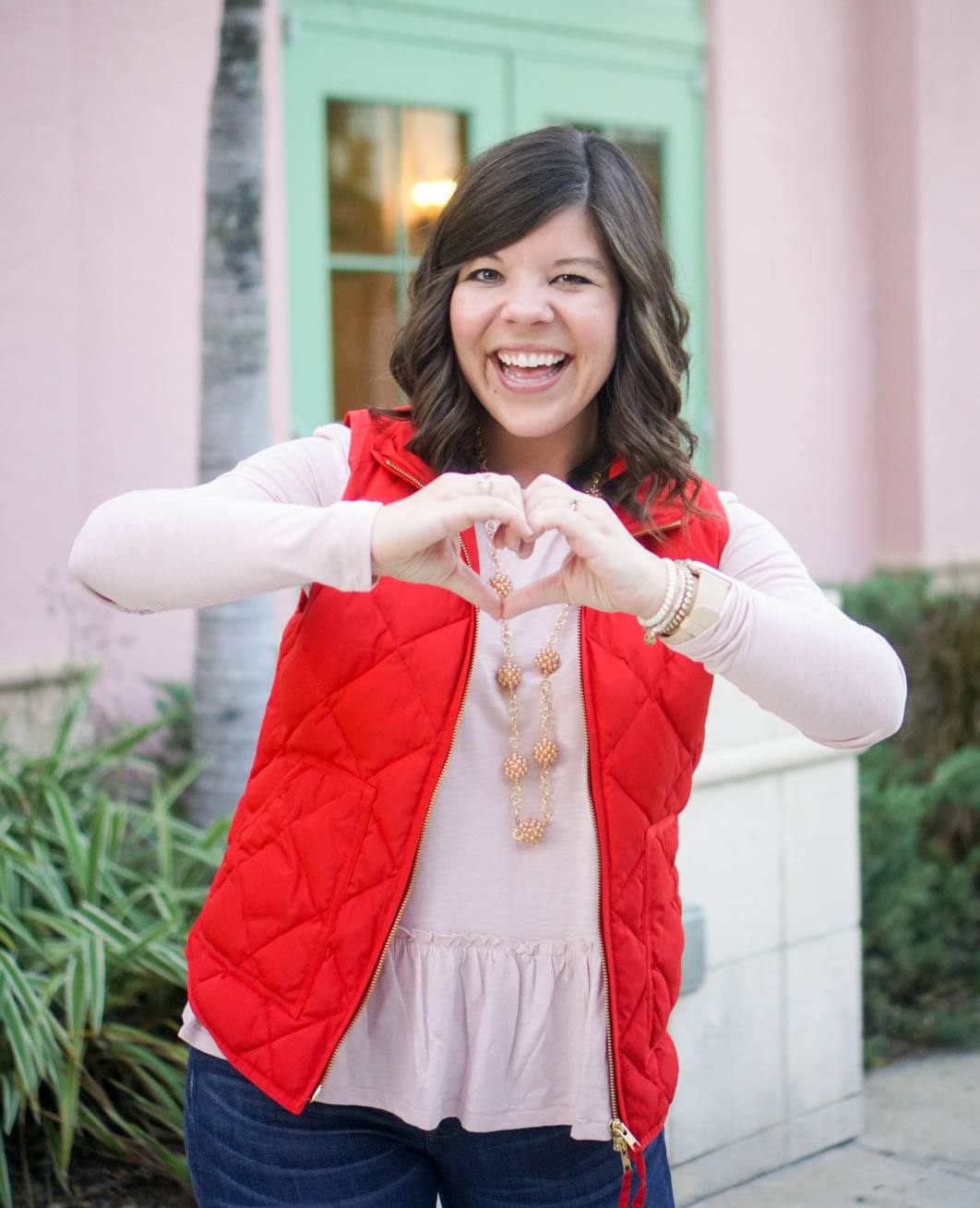 Valentine's Day Casual Style with Girl Meets Bow