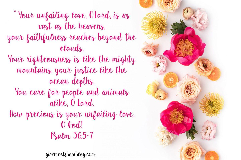Psalm 36:5-7