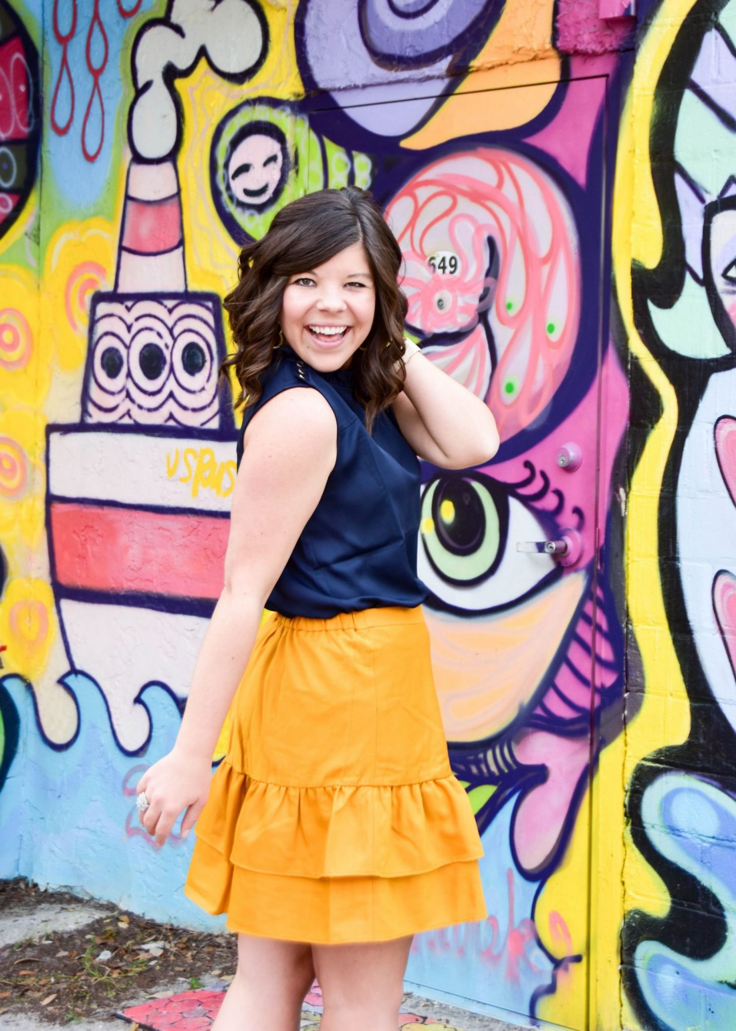 Workweek Chic: Yellow Ruffles + A Link-Up!