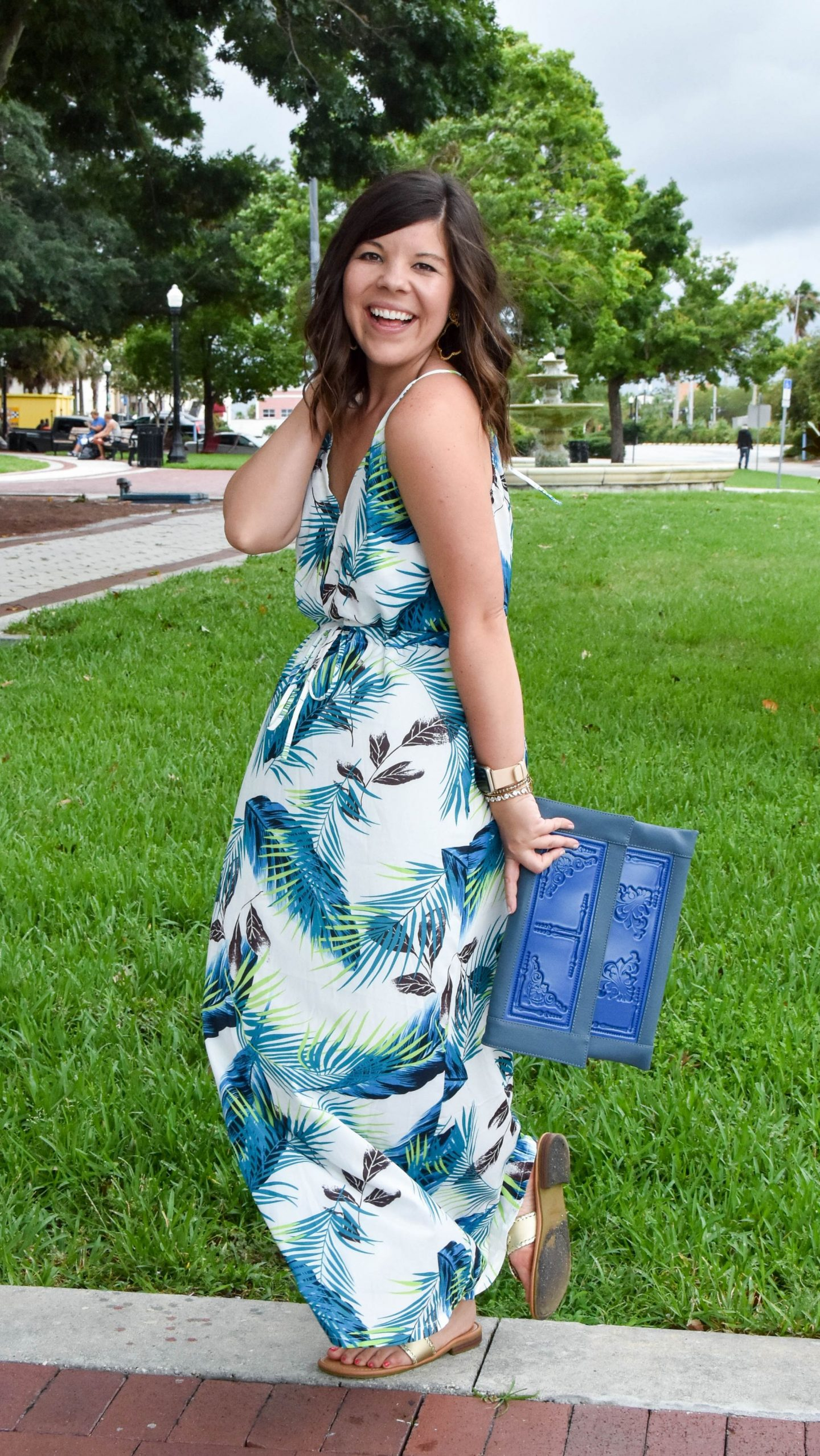 Summer Maxi Dress & Playing Catch Up