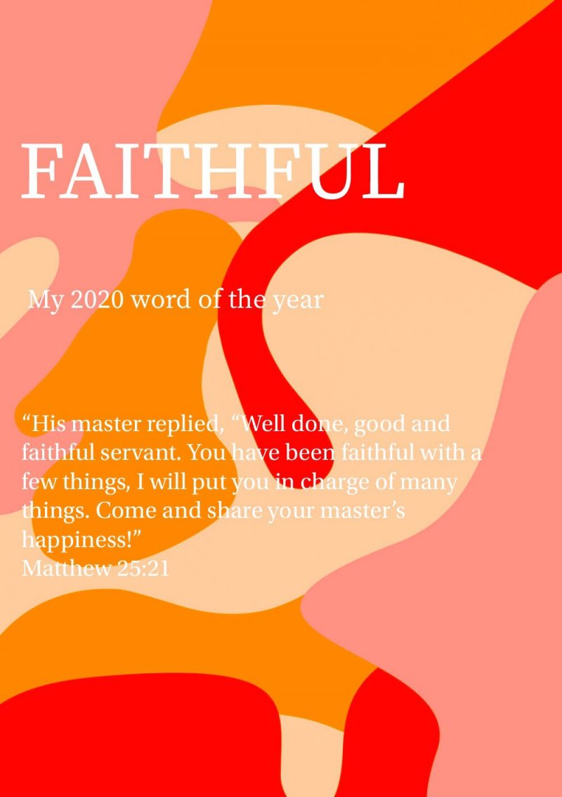 My 2020 Word of the Year + Goals
