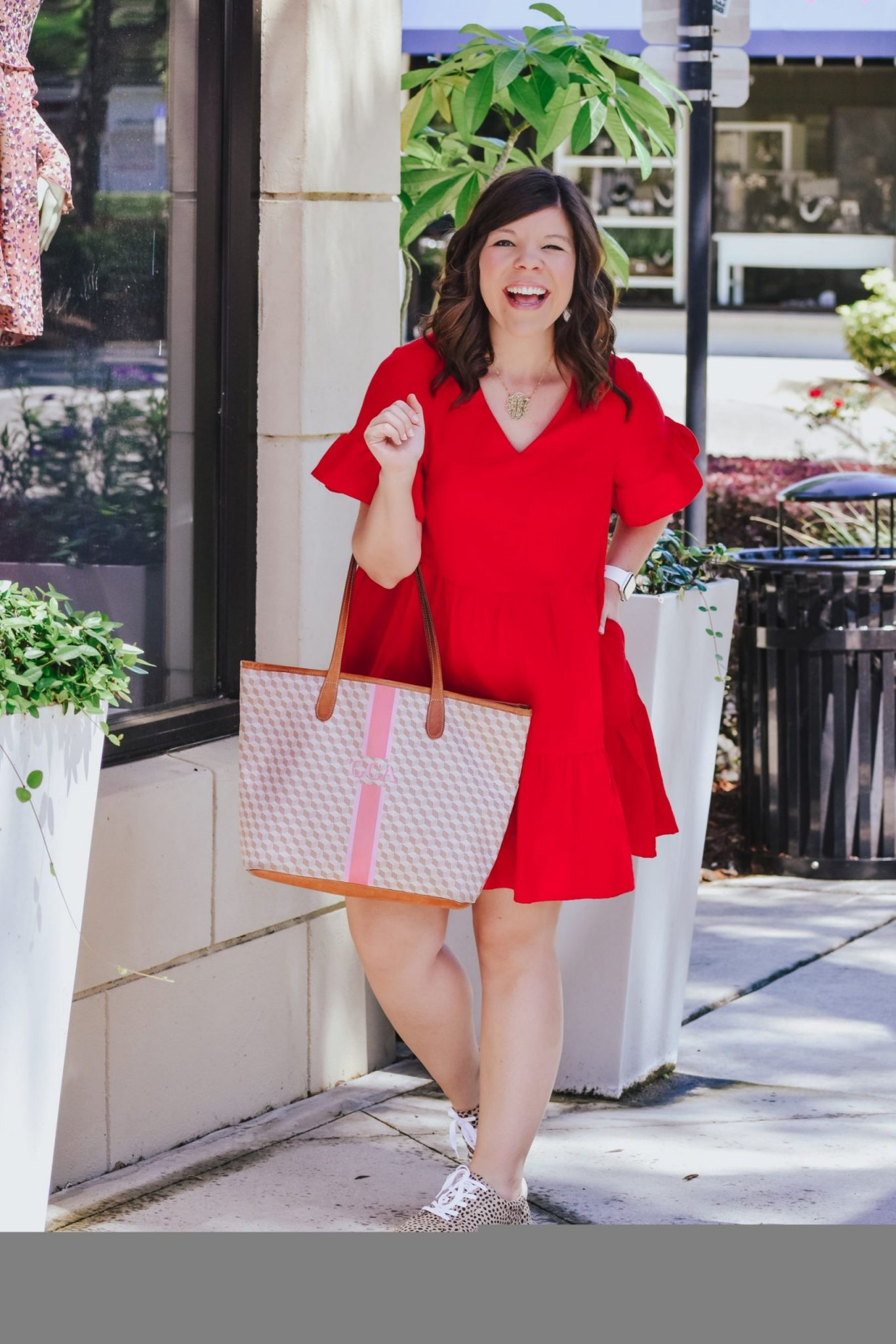 Prime Find: Red Ruffle Dress